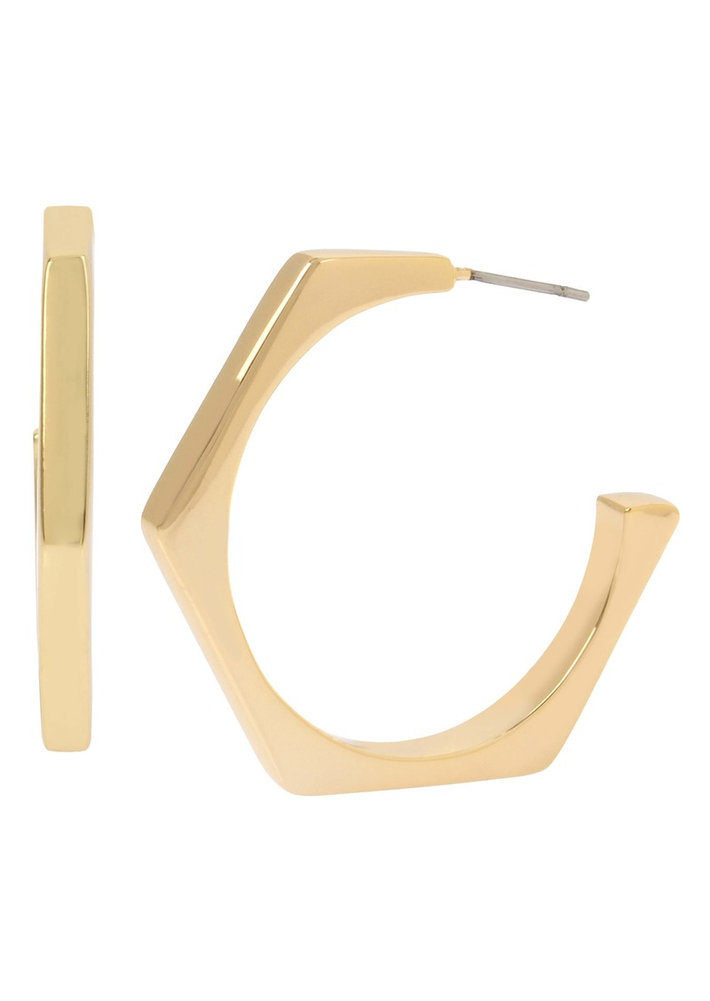 ALLSAINTS Hexagon Open Hoop Earrings