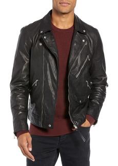 ALLSAINTS Holt Slim Fit Leather Biker Jacket