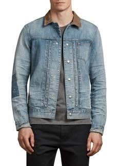 ALLSAINTS Ibanex Slim Fit Distressed Denim Jacket