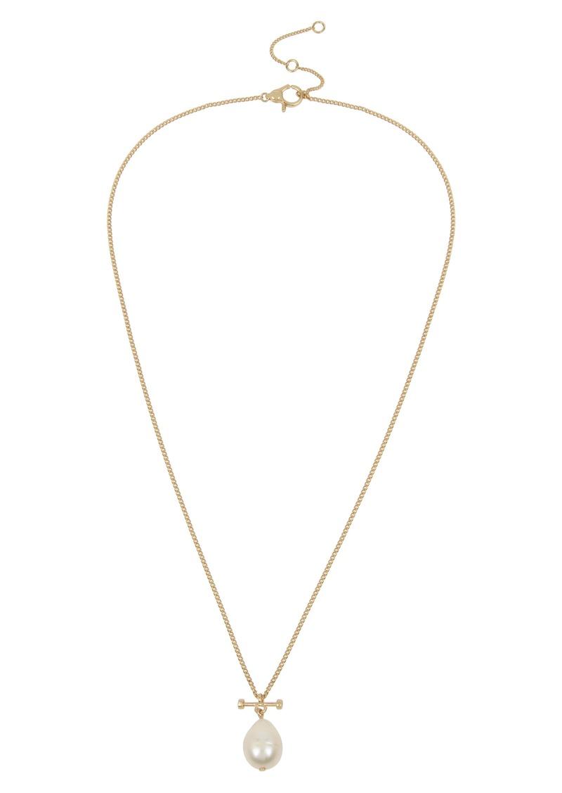 ALLSAINTS Imitation Pearl Bar Pendant Necklace