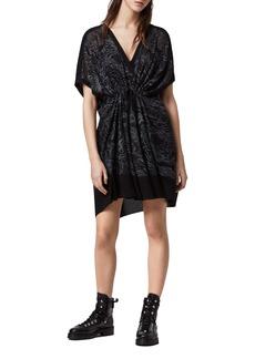 ALLSAINTS Isme Palmer Twist Front Dress