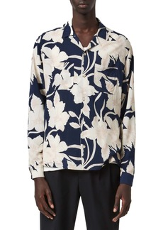 ALLSAINTS Jardin Relaxed Fit Floral Button-Up Camp Shirt