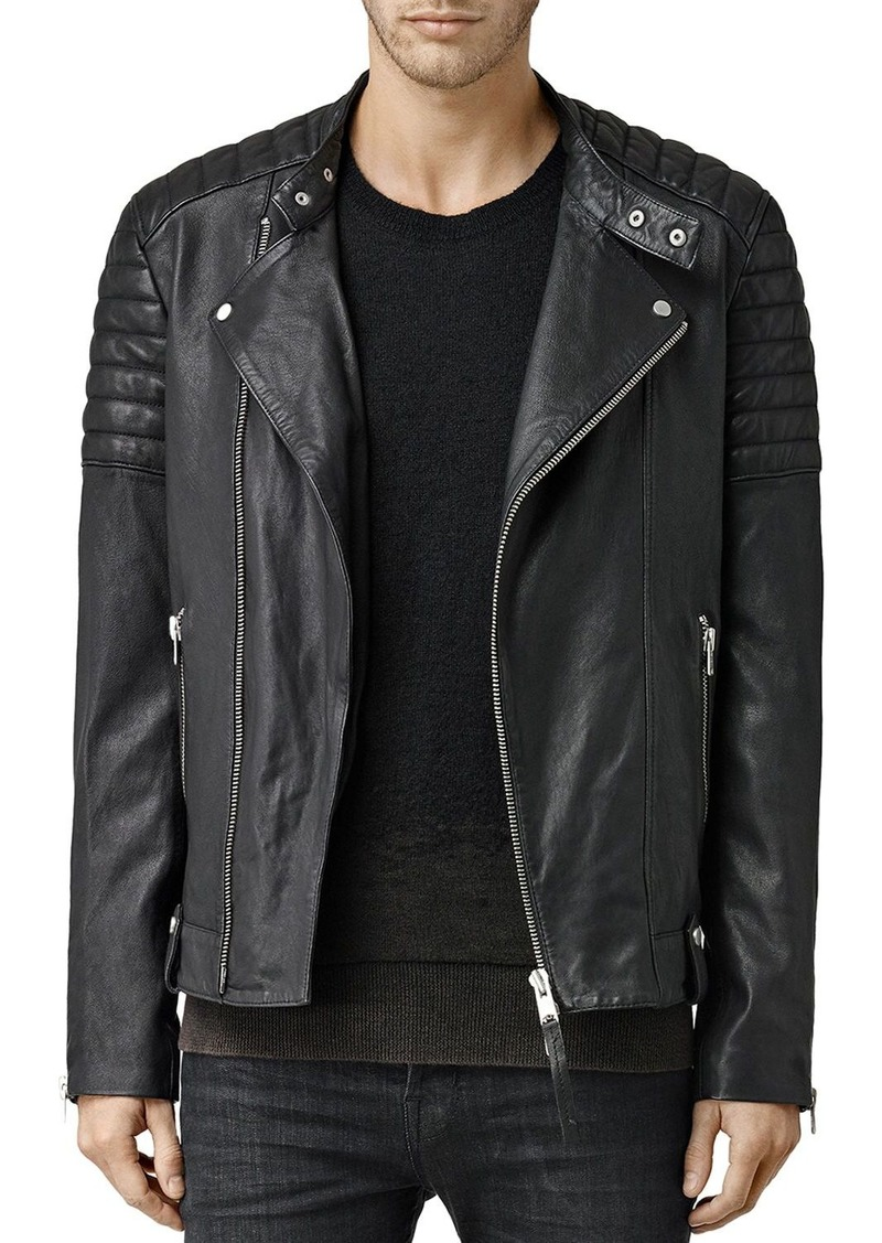 b61c9abdf1 AllSaints ALLSAINTS Jasper Leather Slim Fit Biker Jacket