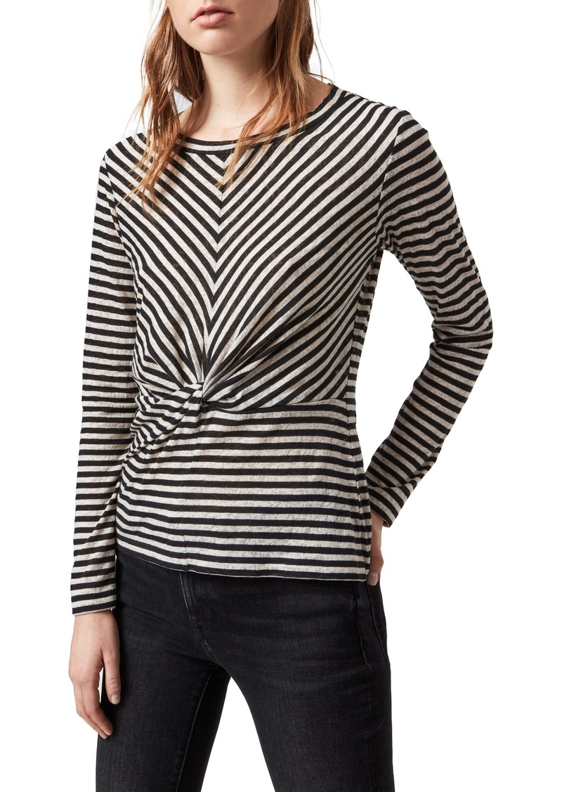 ALLSAINTS Jess Stripe Long Sleeve T-Shirt