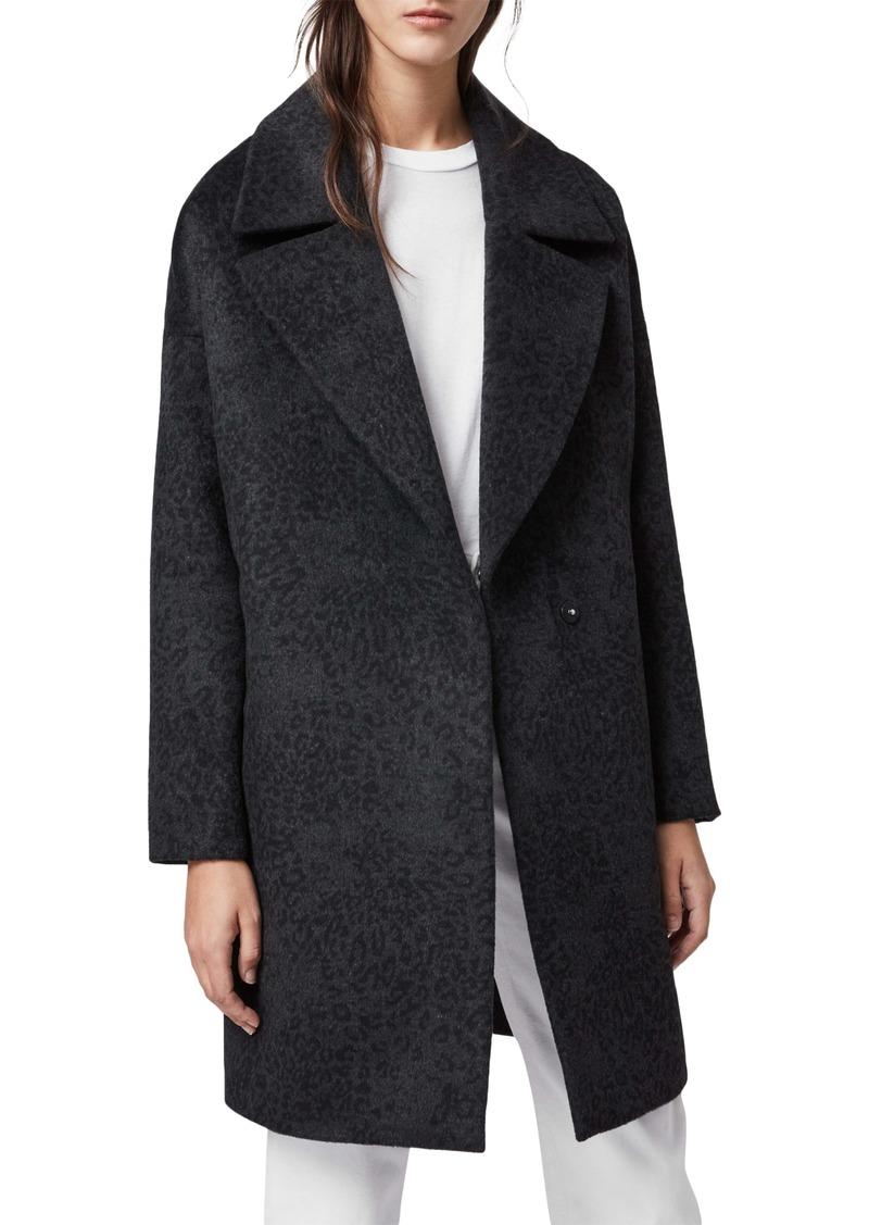 ALLSAINTS Jetta Leopard Coat