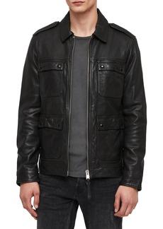 ALLSAINTS Kage Regular Fit Leather Jacket