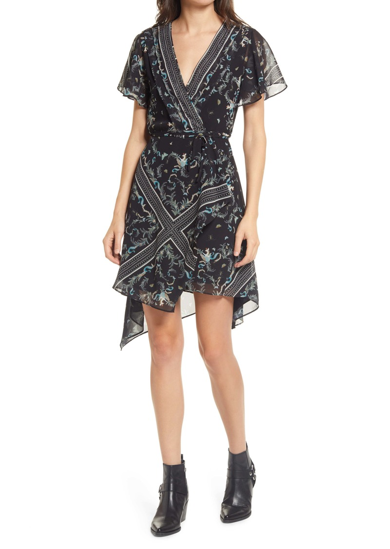 ALLSAINTS Kaiya Asymmetrical Wrap Dress
