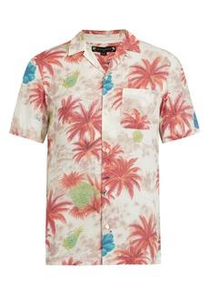 ALLSAINTS Kanaloa Short Sleeve Button-Up Aloha Shirt