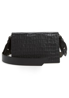 ALLSAINTS Keel Croc Embossed Leather Box Bag