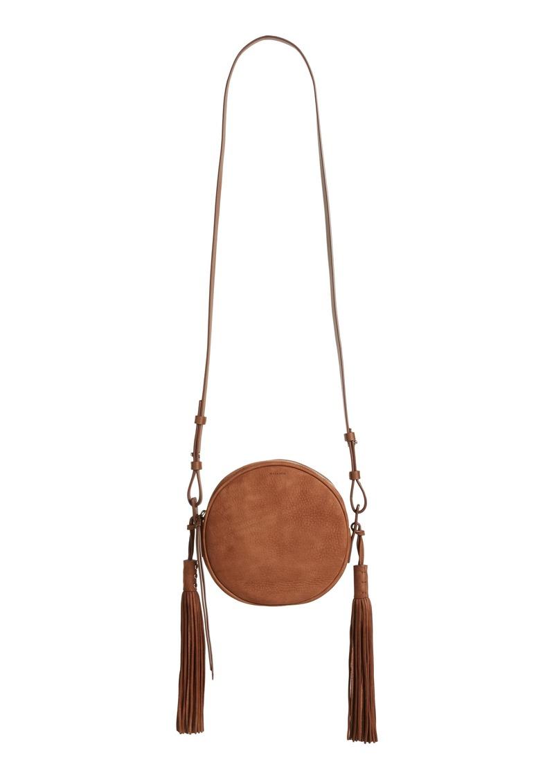 2ed11c18b AllSaints ALLSAINTS Kepi Lea Round Crossbody Bag   Handbags
