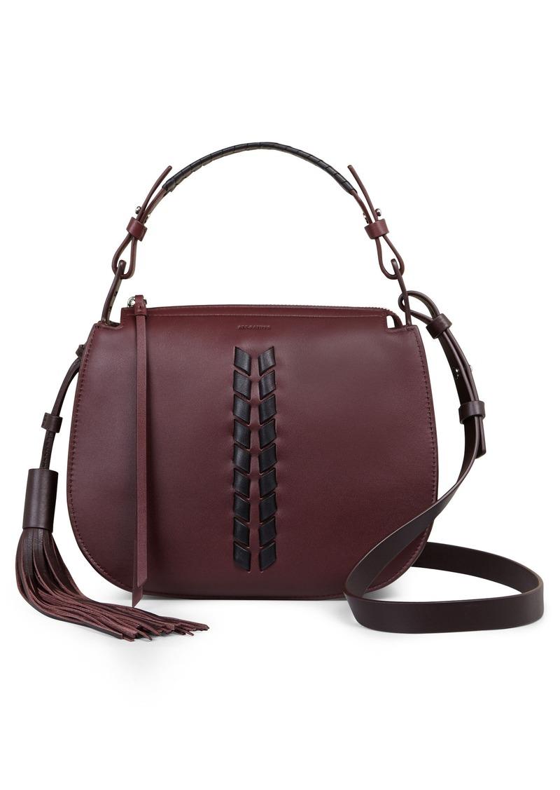 Official Website official photos where to buy AllSaints ALLSAINTS Kepi Leather Crossbody Bag | Handbags