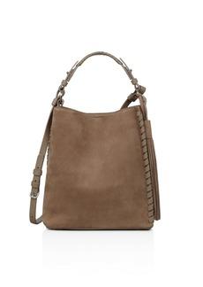 ALLSAINTS Kepi Nubuck Leather Shoulder Bag