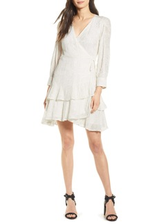 ALLSAINTS Keva Palmer Long Sleeve Wrap Dress