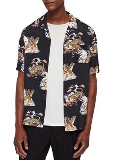 ALLSAINTS Kirshma Slim Fit Print Shirt