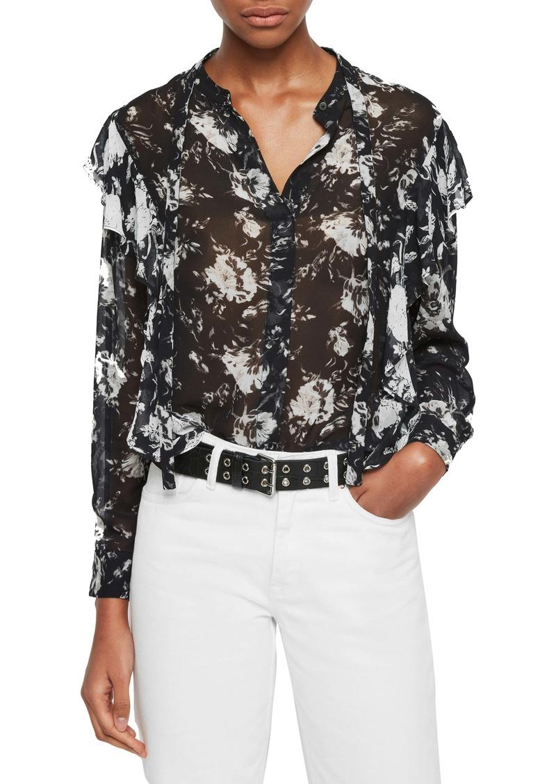 ALLSAINTS Kiti Amapola Button-Up Shirt