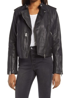 AllSaints Klyn Leather Biker Jacket