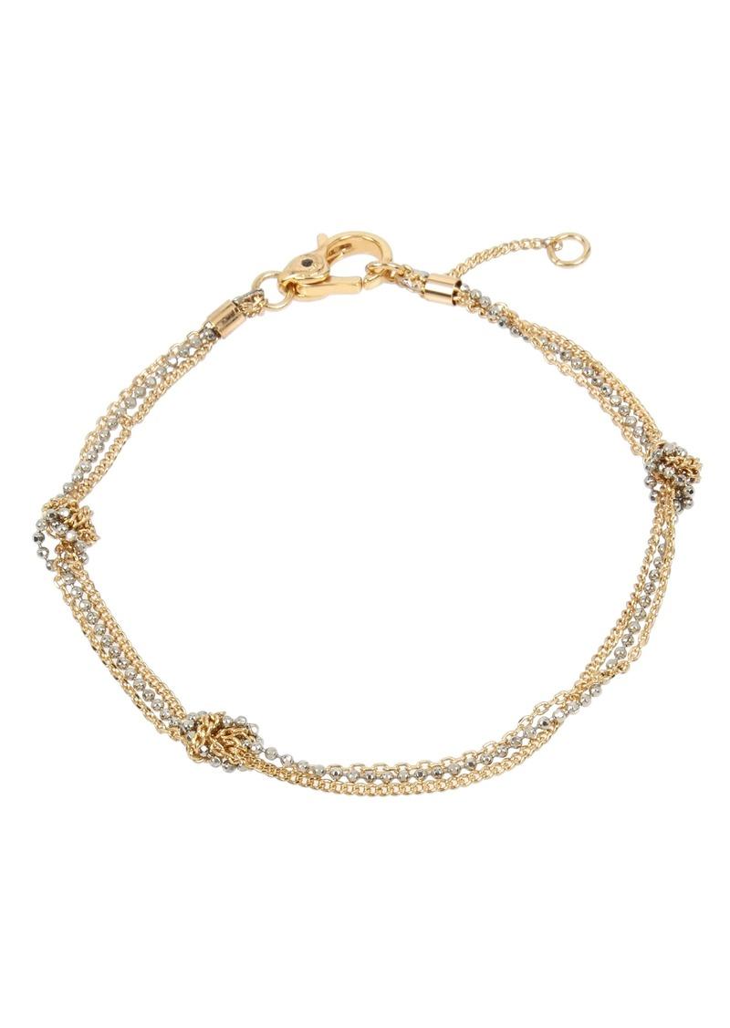 ALLSAINTS Knot Chain Flex Bracelet