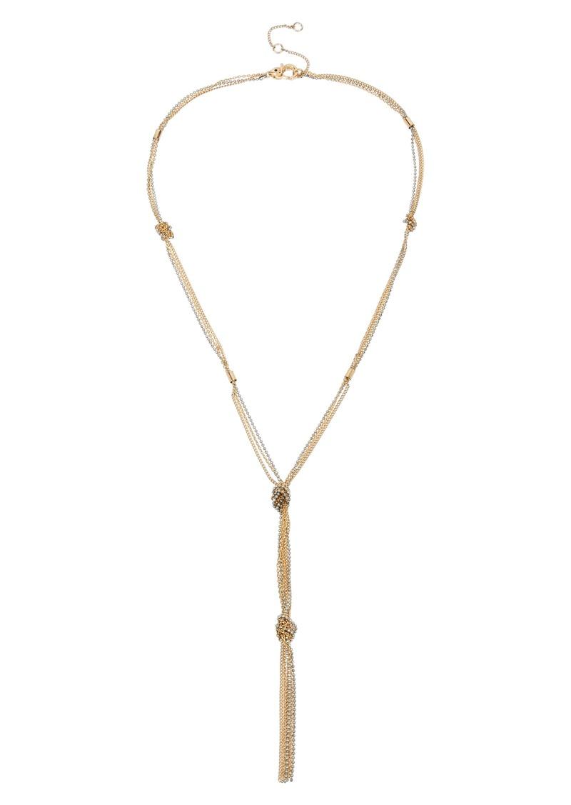 ALLSAINTS Knot Chain Y-Necklace
