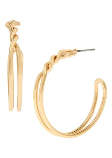 ALLSAINTS Knot Twist Hoop Earrings