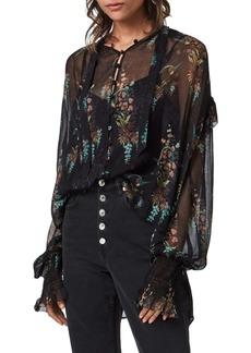 ALLSAINTS Lara Melisma Chiffon Shirt