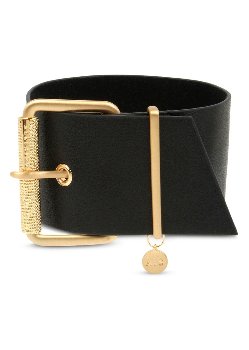 ALLSAINTS Large Buckle Leather Bracelet