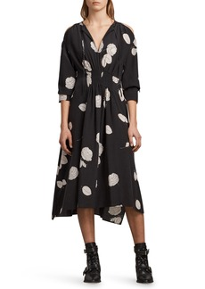 ALLSAINTS Lavette Rodin Silk Dress