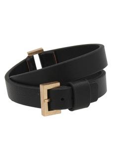 ALLSAINTS Leather Wrap Buckle Bracelet
