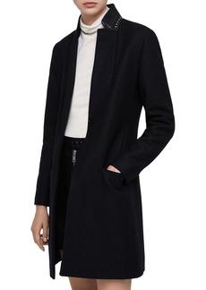 ALLSAINTS Leni Studded-Collar Coat
