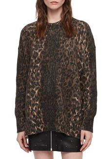 ALLSAINTS Leopard Crewneck Sweater