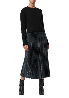 ALLSAINTS Leowa Viola Two In One Slip Dress