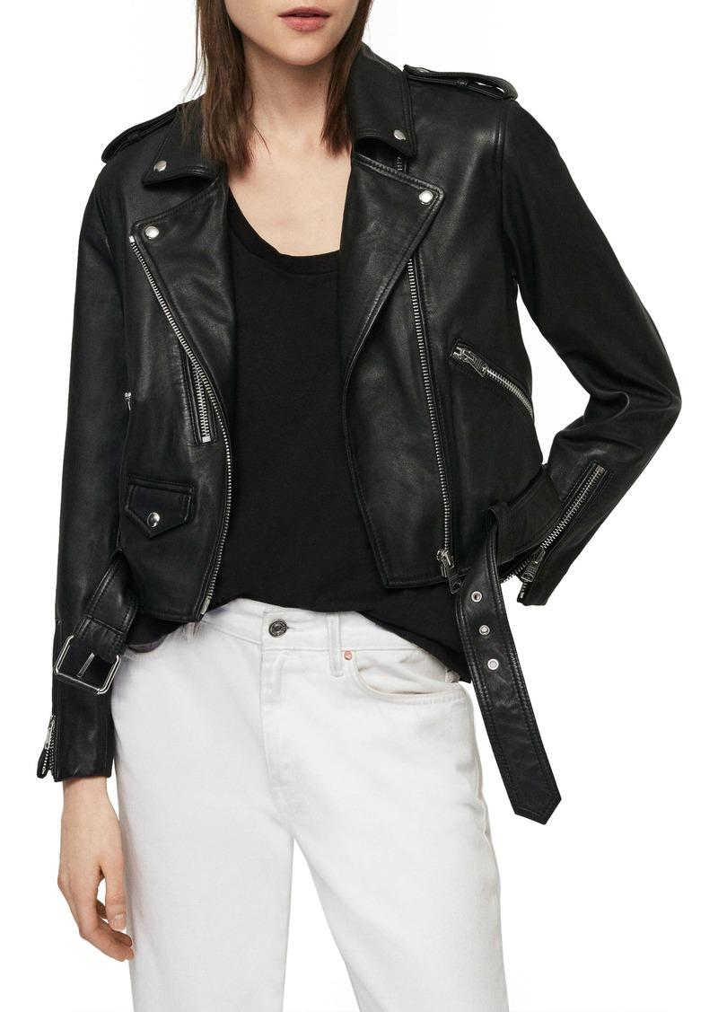 ALLSAINTS Lexi Lambskin Leather Biker Jacket