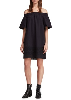 ALLSAINTS Livia Trixi Off the Shoulder Cotton Dress