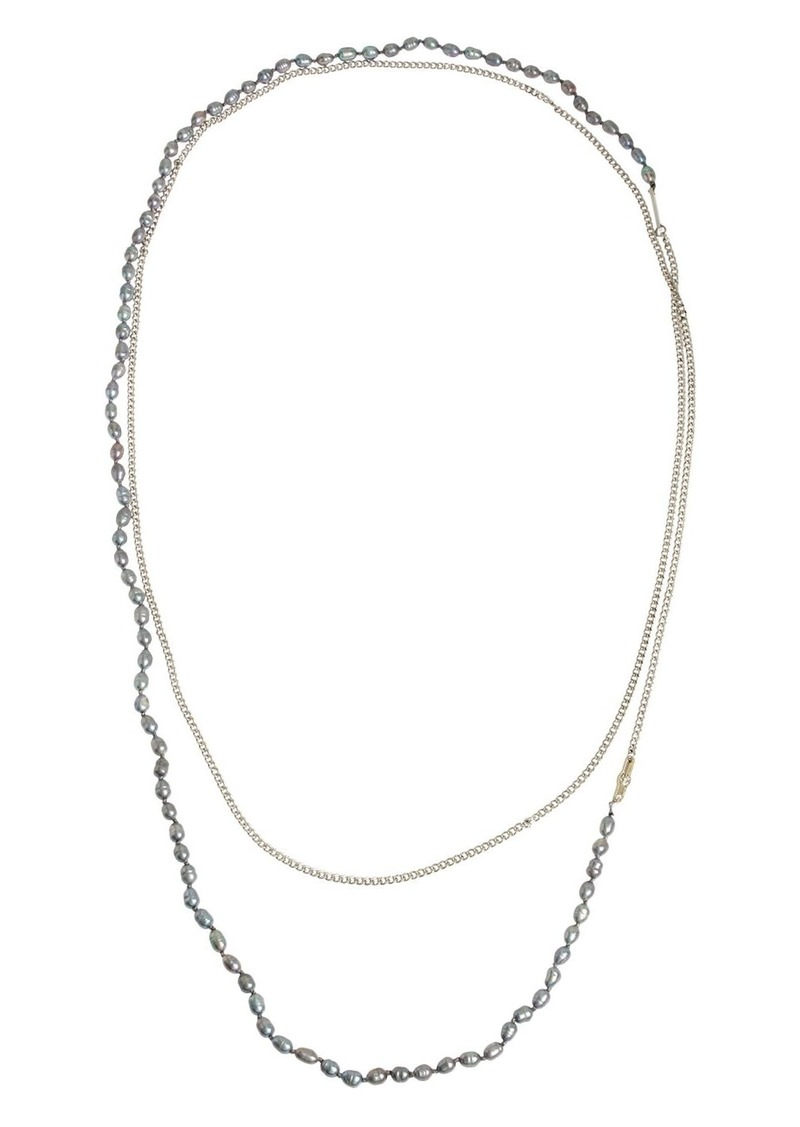 ALLSAINTS Long Cultured Freshwater Pearl Necklace, 59""