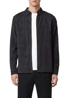 AllSaints Lorella Slim Fit Cotton Button-Up Shirt