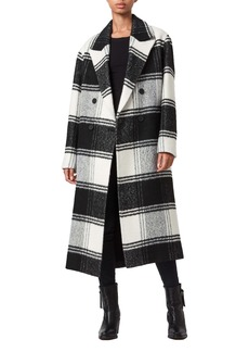 ALLSAINTS Lottie Plaid Double Breasted Coat