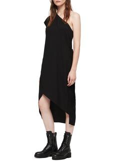 ALLSAINTS Luana One-Shoulder Dress