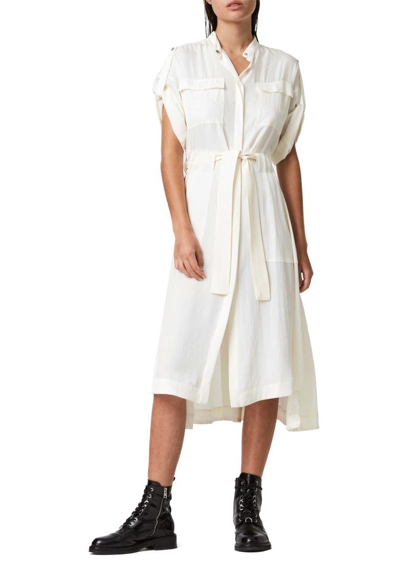 ALLSAINTS Luciana Belted Shirtdress