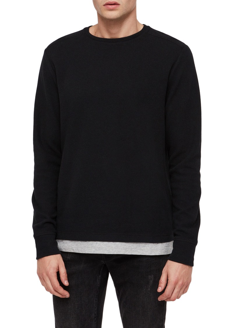 ALLSAINTS Luge Solid Long Sleeve T-Shirt
