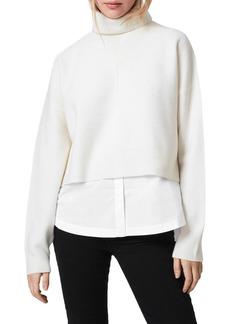 ALLSAINTS Lydi Cropped Sweater and Shirt Set