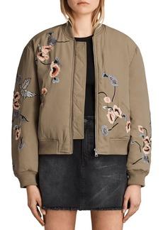 ALLSAINTS Margot Embroidered Bomber Jacket