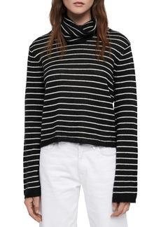 ALLSAINTS Marty Stripe Roll Neck Sweater