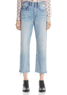 ALLSAINTS Mazzy Cropped Wide Leg Jeans in Indigo Blue