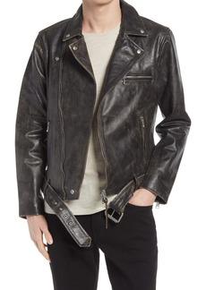 AllSaints Men's Hank Leather Biker Jacket