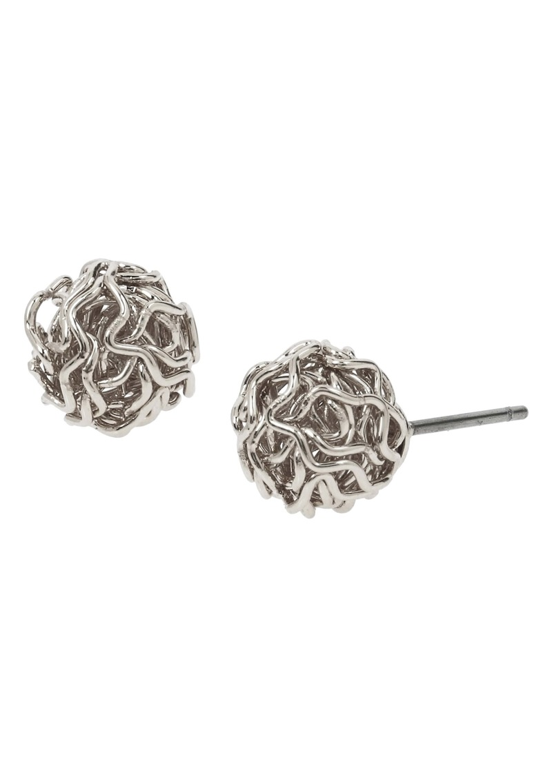 ALLSAINTS Metal Ball Stud Earrings