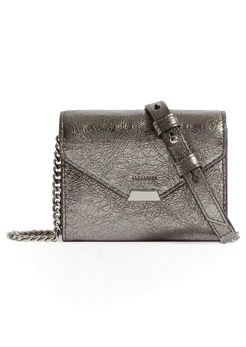 ALLSAINTS Miki Leather Card Holder on a Chain