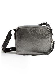 ALLSAINTS Miki Metallic Leather Crossbody Camera Bag