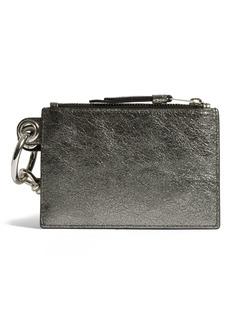 ALLSAINTS Miki Metallic Leather Zip Pouch & Card Case