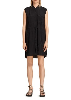 ALLSAINTS Millie Sleeveless Shirt Dress