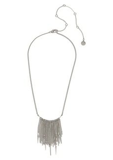 AllSaints Mini Chain Fringe Necklace