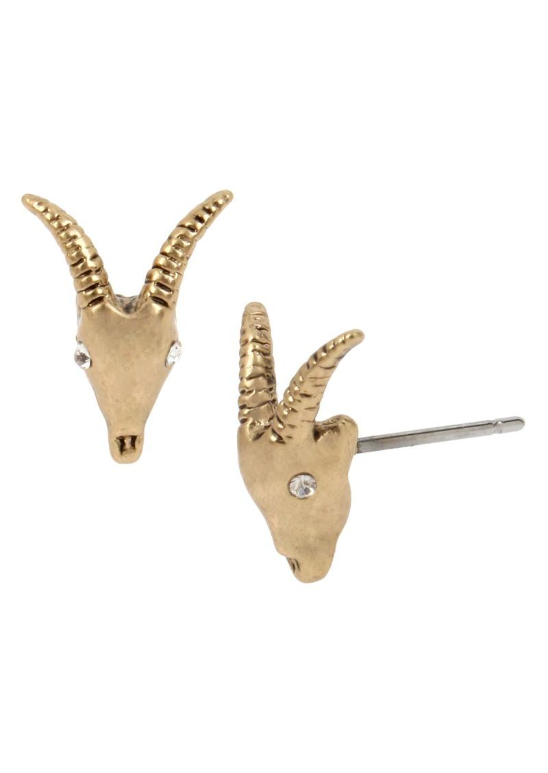 ALLSAINTS Mini Ram Skull Stud Earrings
